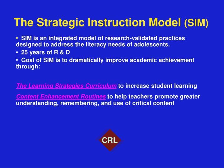Ppt The Strategic Instruction Model Sim Powerpoint Presentation
