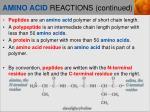 amino acid reactions continued2