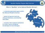nextgen weather program r d overview
