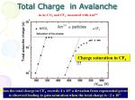 total charge in avalanche