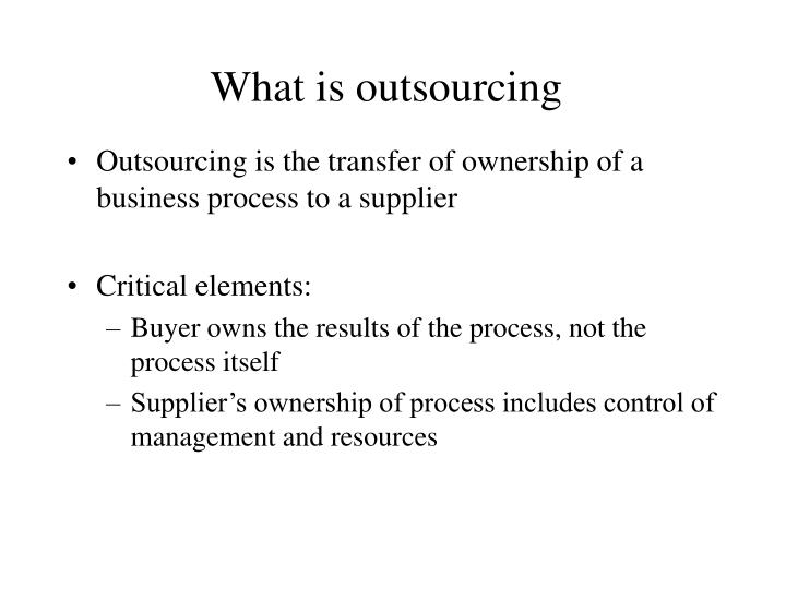 what is outsourcing n.