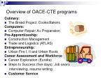 overview of oace cte programs