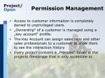 permission management