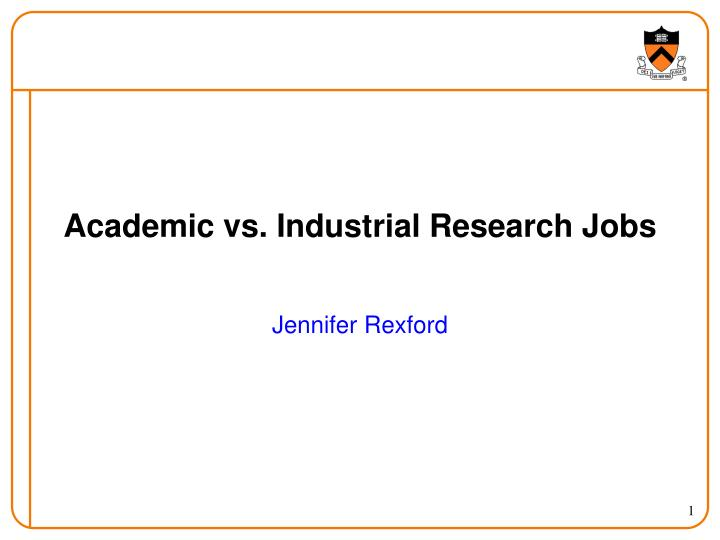academic vs industrial research jobs n.
