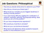 job questions philosophical