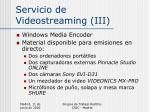 servicio de videostreaming iii