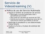 servicio de videostreaming v