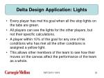 delta design application lights