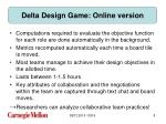 delta design game online version