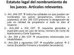 estatuto legal del nombramiento de los jueces art culos relevantes
