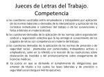 jueces de letras del trabajo competencia