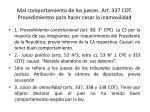 mal comportamiento de los jueces art 337 cot procedimientos para hacer cesar la inamovilidad