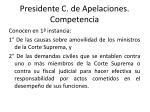 presidente c de apelaciones competencia