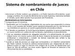 sistema de nombramiento de jueces en chile
