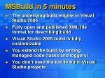 msbuild in 5 minutes