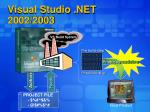 visual studio net 2002 2003