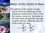 motion of the centre of mass1