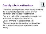doubly robust estimators