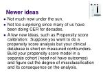 newer ideas