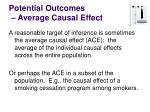 potential outcomes average causal effect