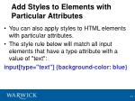 add styles to elements with particular attributes