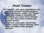 model tindakan