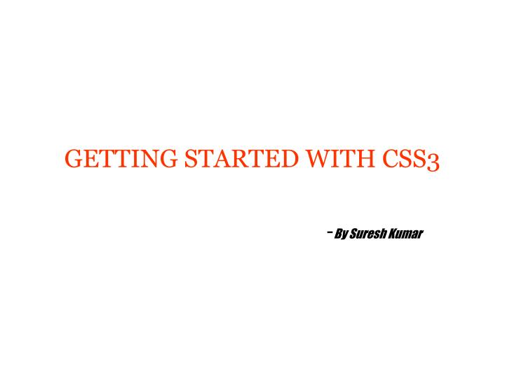 getting started with css3 n.