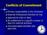 conflicts of commitment