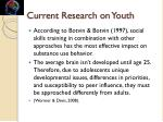 current research on youth