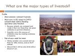 what are the major types of livestock1