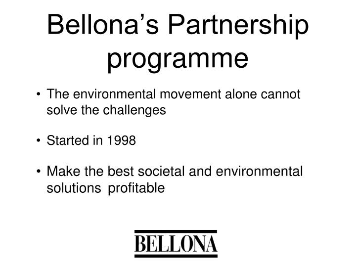 Bellona's Partnership programme