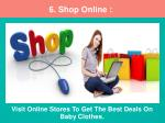 visit online stores to get the best deals on baby clothes