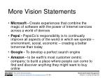 more vision statements