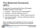 the balanced scorecard bsc