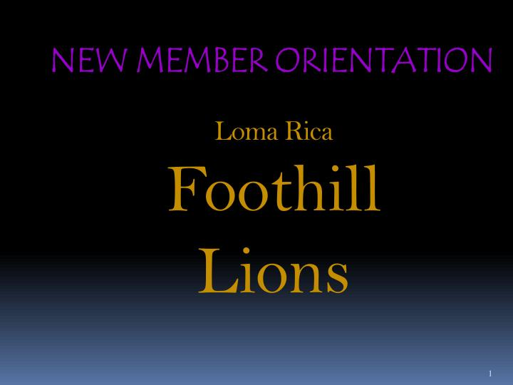 loma rica foothill lions n.