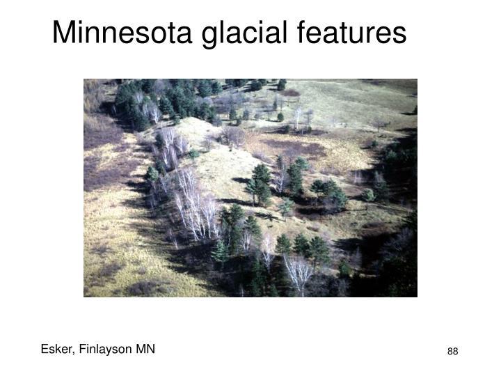 Minnesota glacial features