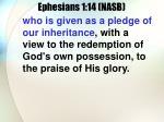 ephesians 1 14 nasb