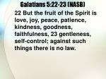 galatians 5 22 23 nasb