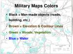 military maps colors