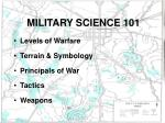 military science 101