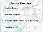 tactics exercise i
