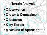 terrain analysis