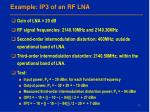 example ip3 of an rf lna