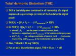 total harmonic distortion thd