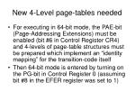 new 4 level page tables needed