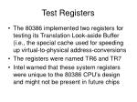 test registers