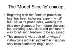 the model specific concept