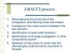 i bacci process