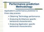 performance prediction methodology