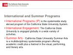 international and summer programs
